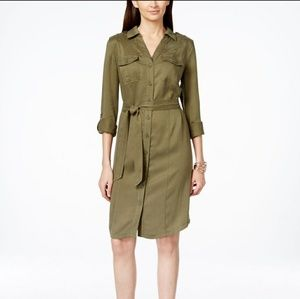 INC International Concepts Military shirtdress NWT